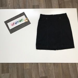 Jag Midi Skirt Pockets Washed Black Denim Size 8